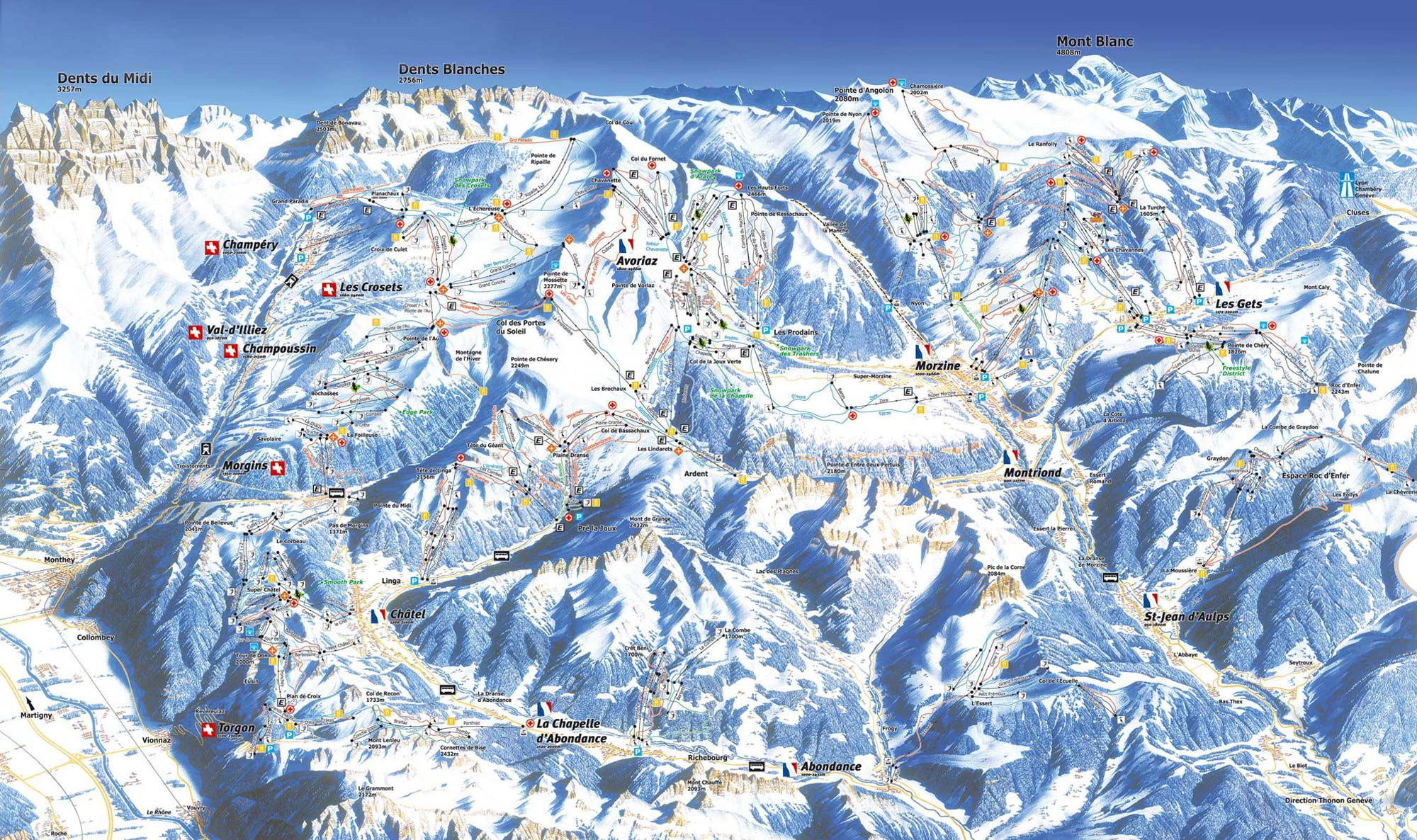 Piste Map Morzine Morzine Piste Map | Custom Breaks