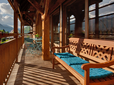 morzine chalet with a hot tub, sauna and balcony